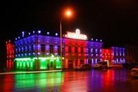 Наружное освещение: архитектурное освещение зданий, фасадов дома в Симферополе